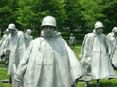 Statues from the Korean War Memorial