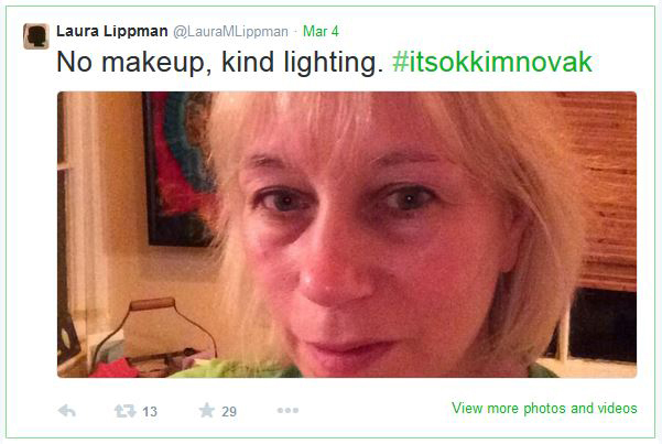 Tweet from Laura Lippman