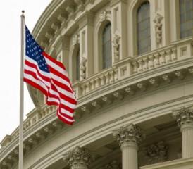 Capitol Hill & US Flag