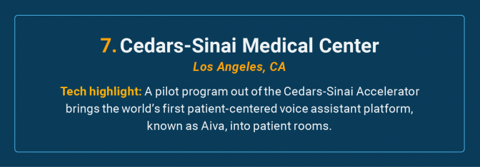 Cedars-Sinai Medical Center is the number 7 high-tech cancer hospital in the U.S.