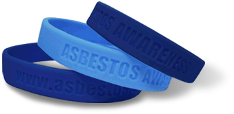 Mesothelioma awareness wristbands from Asbestos.com