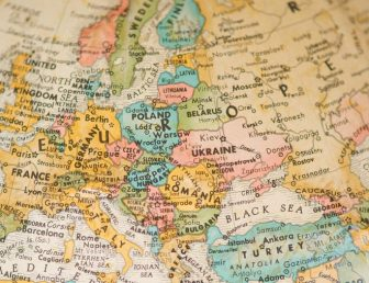 Antique Vintage Map of Europe