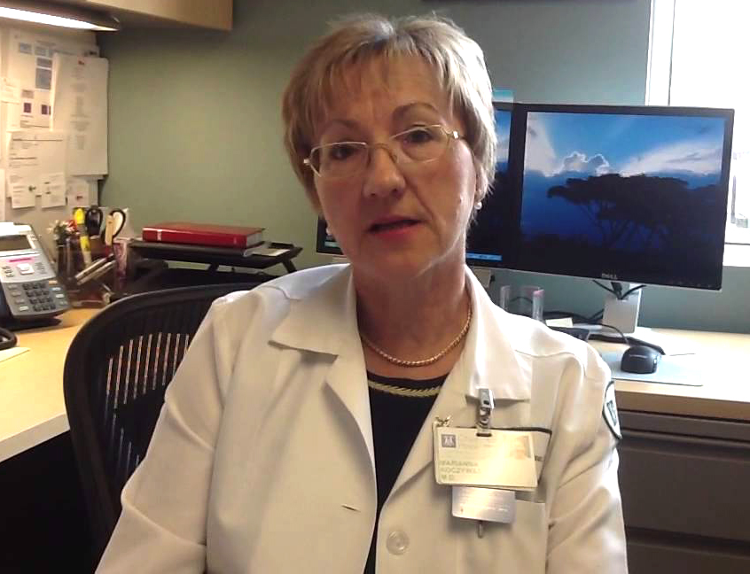 Thoracic oncologist Dr. Marianna Koczywas from City of Hope