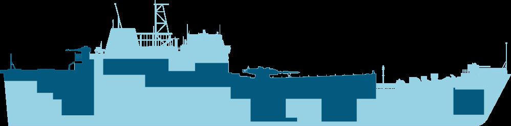 Medium risk areas of asbestos on Navy ship