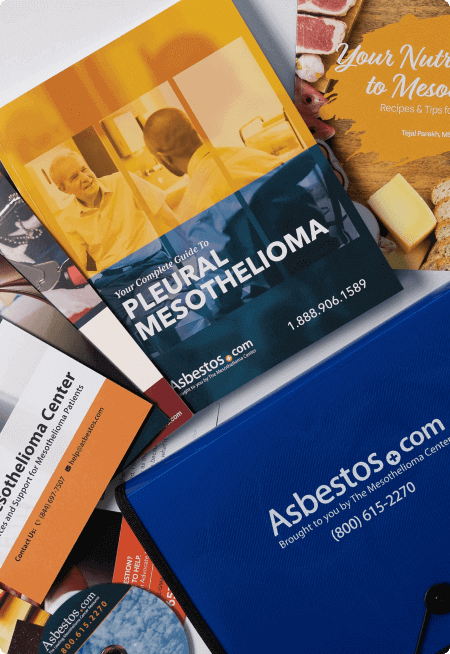 Contents of Asbestos.com's mesothelioma packet