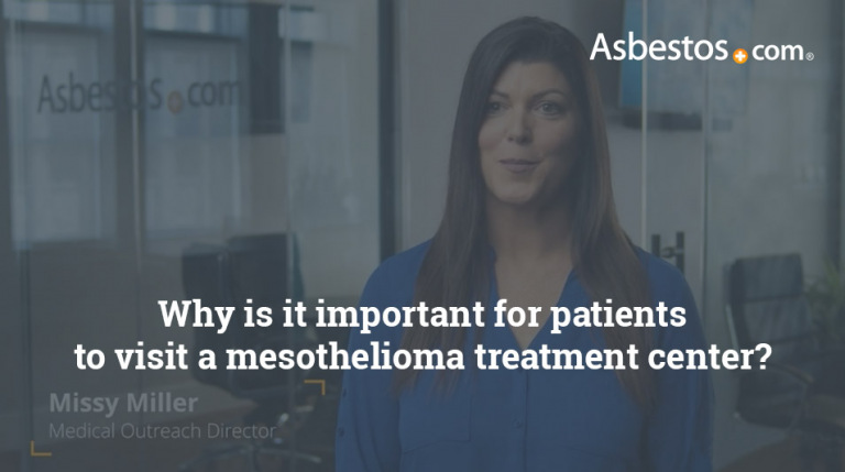 Mesothelioma cancer center importance video thumbnail