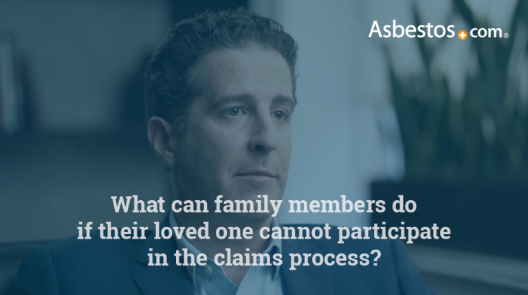 Mesothelioma claims process for family members video