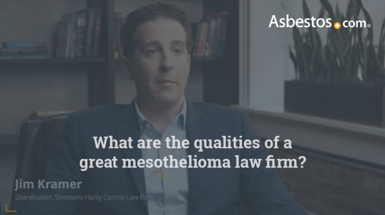 Mesothelioma law firm qualities video thumbnail