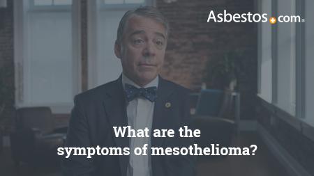 Video of mesothelioma expert Dr. Marcelo DaSilva explaining the various symptoms of mesothelioma.