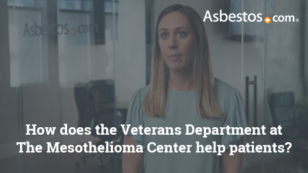Video of VA-accredited claims agent Danielle DiPietro explaining how we are able to help veterans with mesothelioma access their VA benefits more smoothly