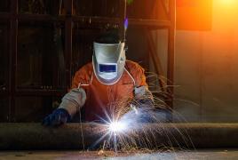 metal worker welding