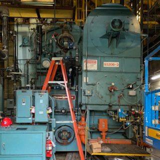 MTA East New York bus depot boiler room