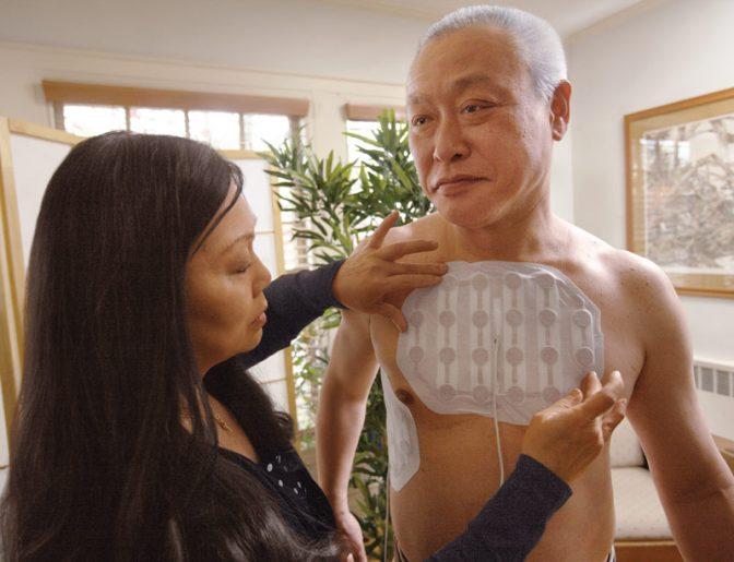 Cancer patient using the NovoTTF-100L System