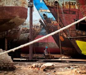 Old Ships at Dock