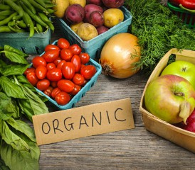 Organic foods on a table