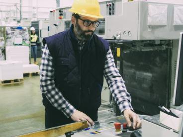 Paper mill worker