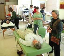Patient Receiving Qigong Therapy