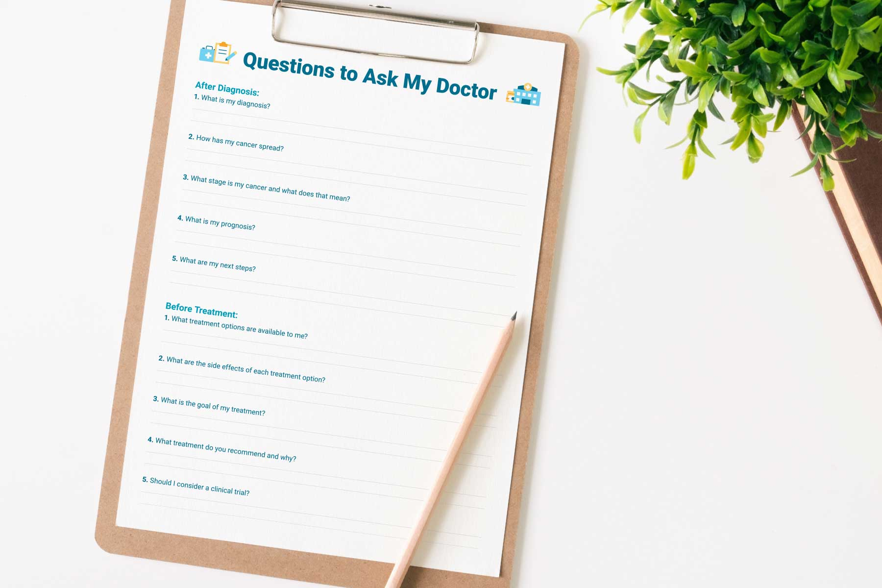 Printable list of questions to ask a doctor