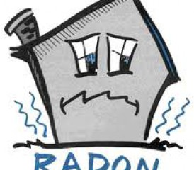 Illustration of house with radon