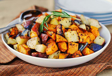 Roasted Potatoes, Yams and Squash