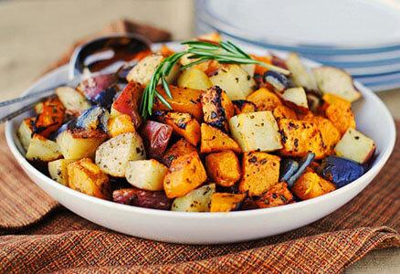 Roasted Potatoes, Yams and Squash