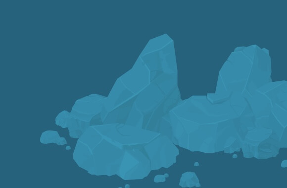 Talc Rock Formation Illustration
