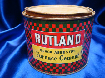 Rutland Black Asbestos Furnace Cement