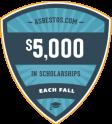 Asbestos.com scholarship badge