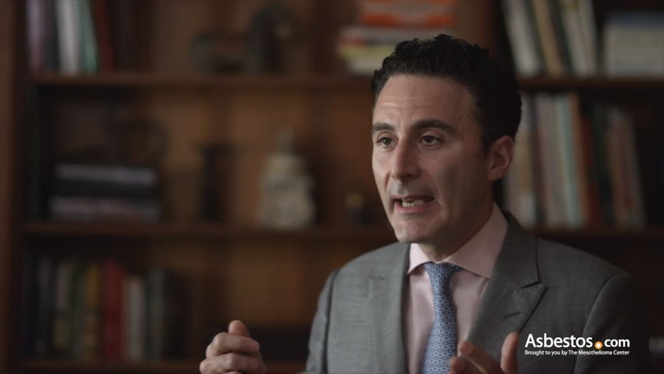 Video of mesothelioma expert Dr. Jacques Fontaine explaining who is most at risk for mesothelioma due to asbestos exposure.