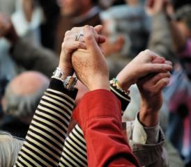 Community Holding Hands