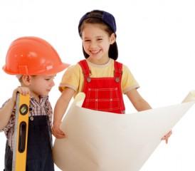 Children building