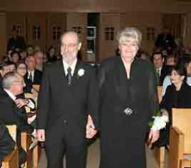 Stuart S. Mesothelioma Victim and late wife Ilene at Church