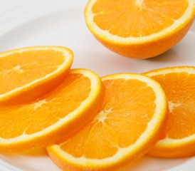 Slices of oranges on a plate