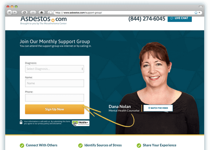 Mesothelioma Support Group screen shot