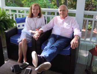 Mesothelioma survivor Susan Dickson and her husband