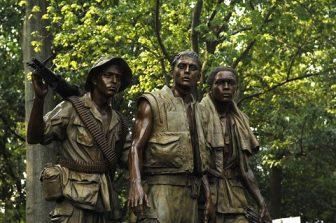 Statues from the Three Servicemen Vietnam War Memorial