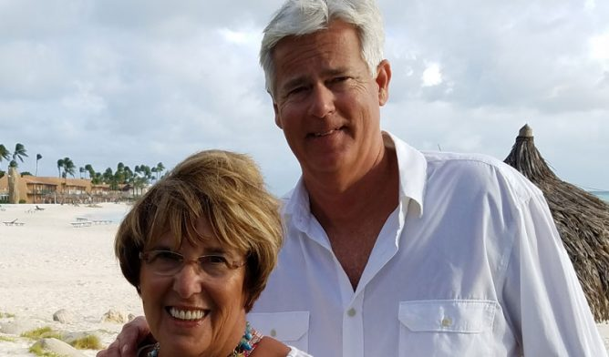 Mesothelioma survivor Tom Roland and and his wife Joanne