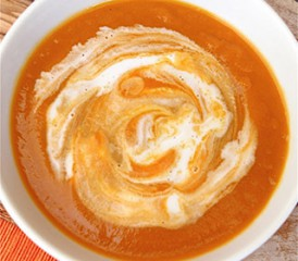 Bowl of pureed soup