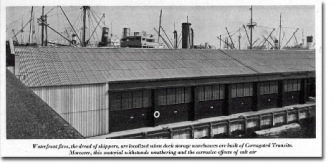 Vintage ad showing warehouse