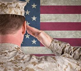 Saluting Veteran