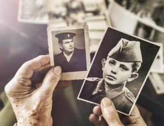 Vintage photos with album