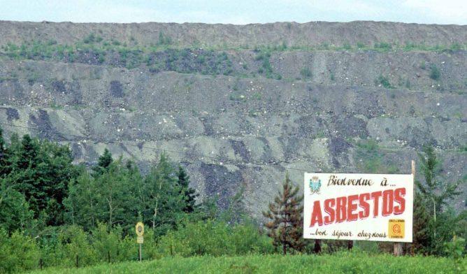 Asbestos, Quebec, welcome sign