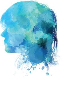 Mesothelioma Woman Paint Splatter