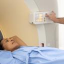 Woman in MRI scanner