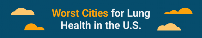 Worst cities for lung health banner