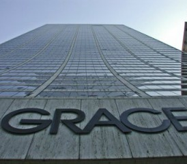 WR Grace sign at headquarters