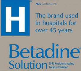 Betadine label