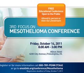 Mesothelioma conference brochure