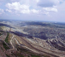 Asbestos mine in Asbest, Russia