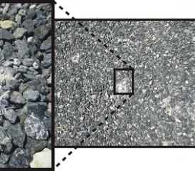Asbestos Imbedded in Gravel